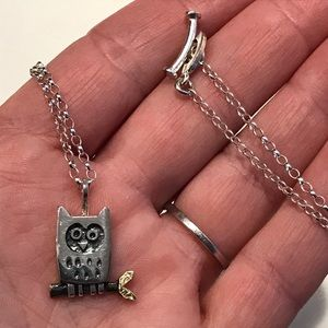 Artist made Little Owl Necklace NWOT